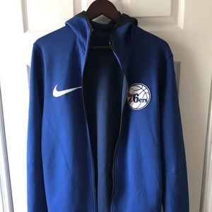 Nike Shirts - Authentic 2017 76ers warm-up hoodie. Sz. M. New.